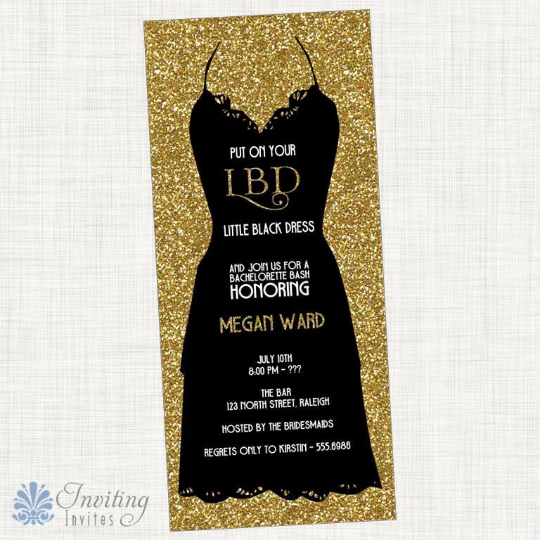 Little Black Dress Invitation Best Of Bachelorette Party Invitation Little Black Dress