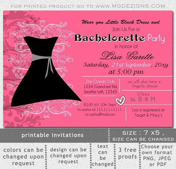 Little Black Dress Invitation Best Of Printable Little Black Dress Lingerie Shower Bachelorette