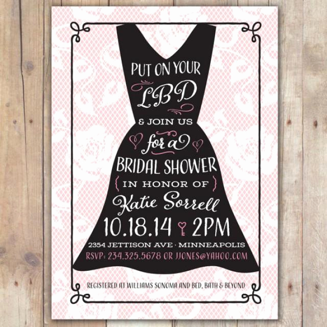 Little Black Dress Invitation Elegant Little Black Dress Custom Digital Wedding Shower