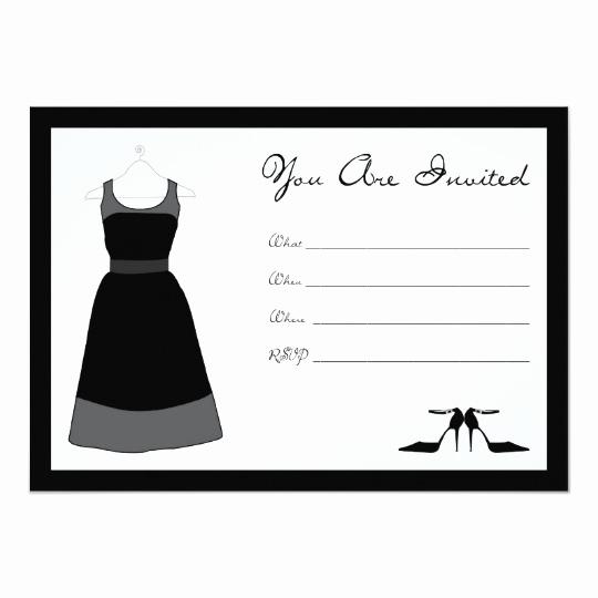 Little Black Dress Invitation Elegant Little Black Dress Party Invitation