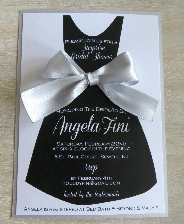 Little Black Dress Invitation Fresh Little Black Dress Bridesmaid Dress Invitation with