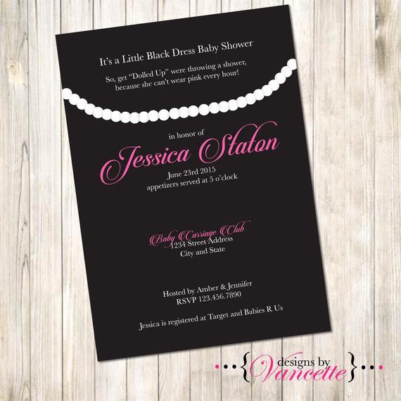 Little Black Dress Invitation Fresh Little Black Dress Invite Little Black Dress Shower Invite