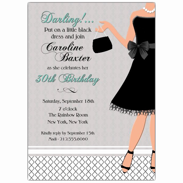 Little Black Dress Invitation Inspirational Little Black Dress Birthday Invitations