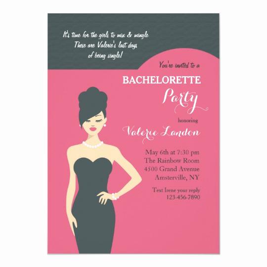 little black dress invitation