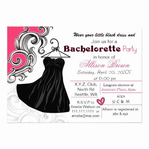 """Little Black Dress Invitation Lovely Little Black Dress Bachelorette Party Invite 5"""" X 7"""