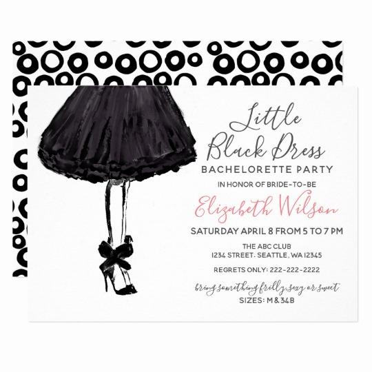 Little Black Dress Invitation Unique Bachelorette Party Gifts On Zazzle