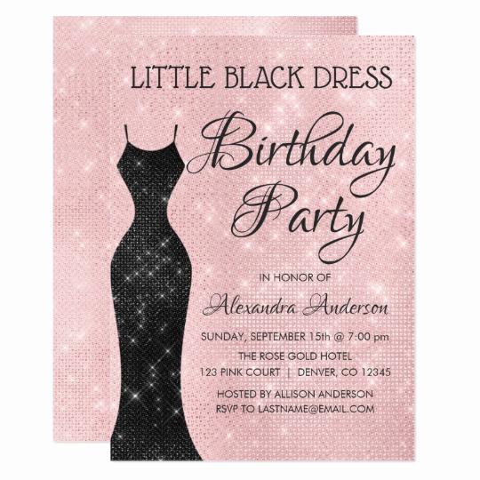 Little Black Dress Invitation Unique Blush Bouquet Birthday Party Invitation