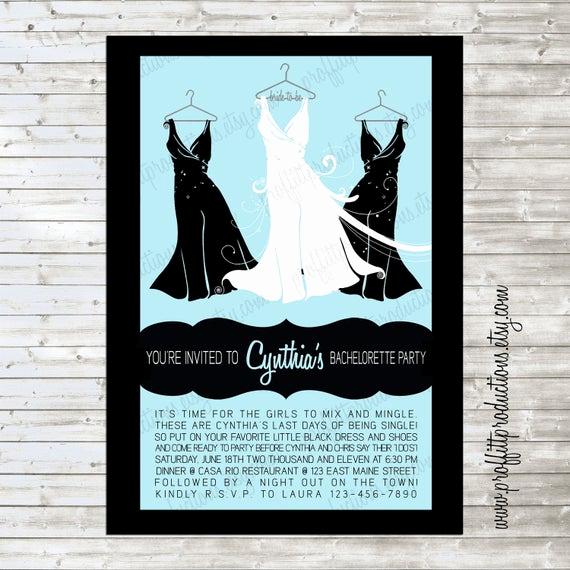 Little Black Dress Invitation Unique Little Black Dress Custom Bridal Shower by Proffittproductions