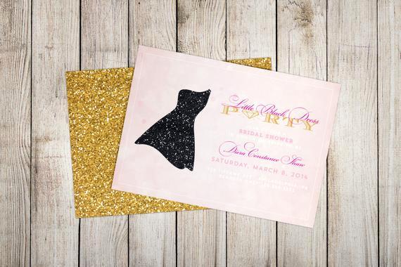 Little Black Dress Invitation Unique Little Black Dress Invitation by Diconshadesigns On Etsy