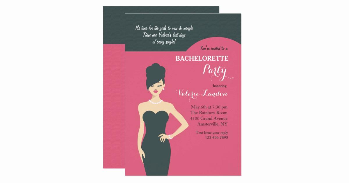 Little Black Dress Invitation Unique Little Black Dress Invitation