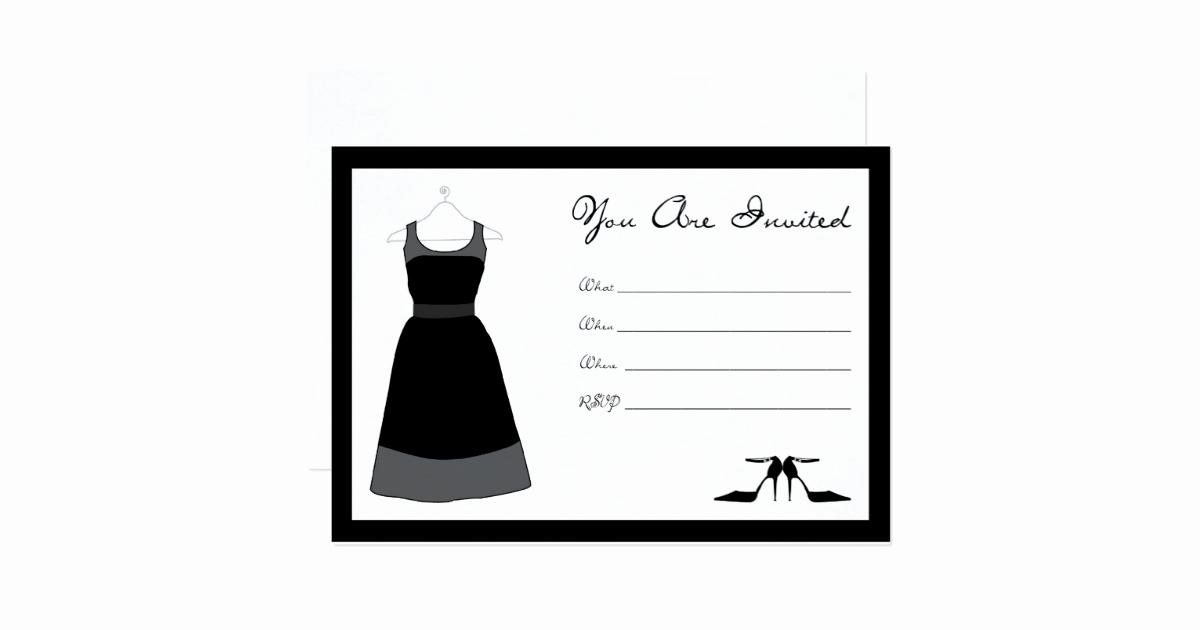 Little Black Dress Invitation Unique Little Black Dress Party Invitation