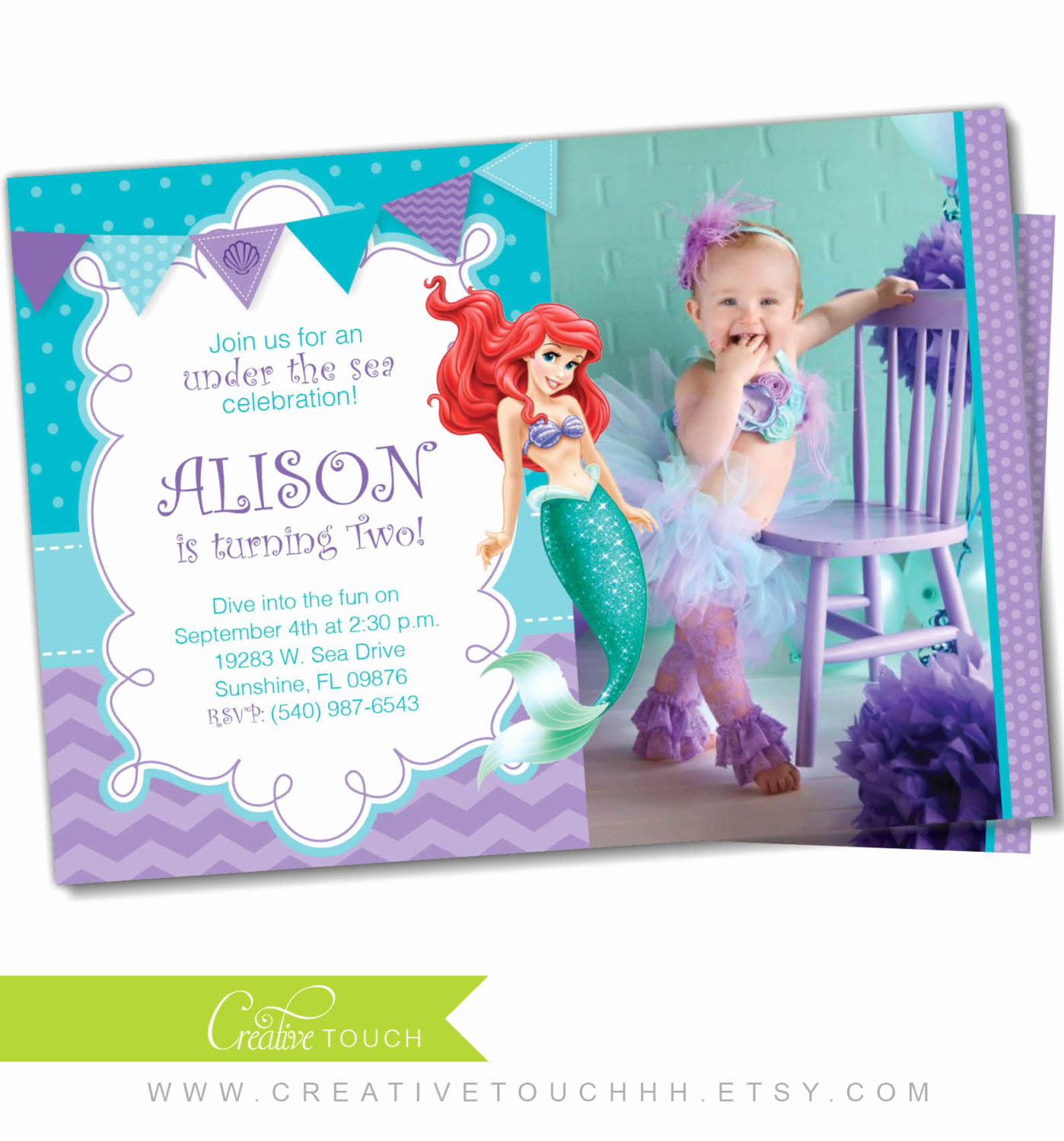Little Mermaid Birthday Invitation Template Fresh Little Mermaid Invitation Little Mermaid Invite Ariel