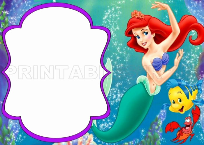 Little Mermaid Birthday Invitation Template Luxury Pin by Whitney ford On Ariel Birthday Party In 2019