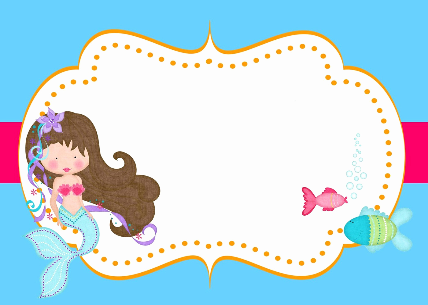 Little Mermaid Birthday Invitation Template Unique Little Mermaid Free Printable Invitation Templates