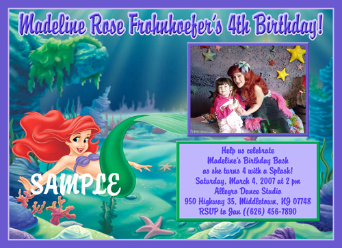 Little Mermaid Invitation Ideas Beautiful Little Mermaid Birthday Invitations Ideas – Bagvania Free