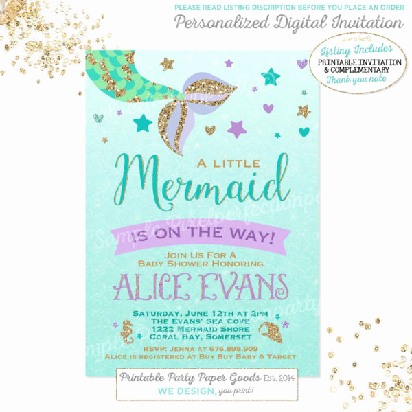 Little Mermaid Invitation Ideas Beautiful Mermaid Baby Shower Ideas Baby Shower Ideas themes Games