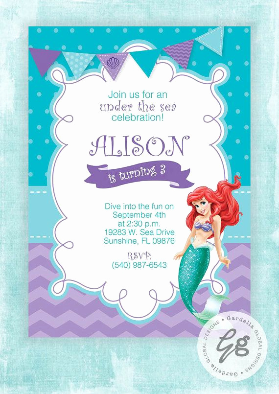 Little Mermaid Invitation Ideas Elegant Best 25 Little Mermaid Invitations Ideas On Pinterest