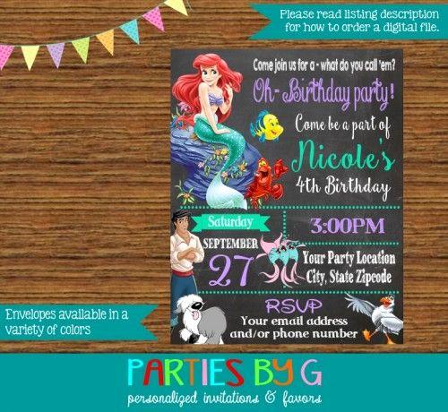 Little Mermaid Invitation Ideas Fresh 25 Best Ideas About Little Mermaid Invitations On