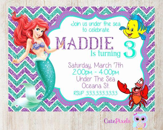 Little Mermaid Invitation Ideas Lovely 1000 Ideas About Little Mermaid Parties On Pinterest
