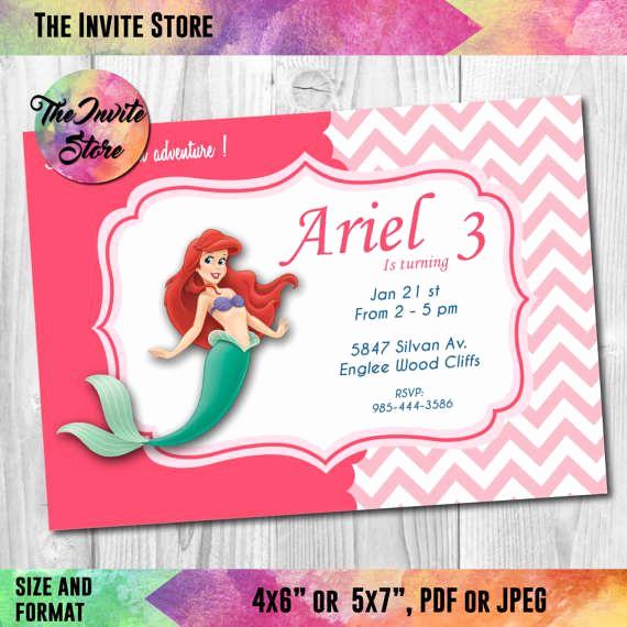 Little Mermaid Invitation Ideas Lovely 25 Best Ideas About Little Mermaid Invitations On