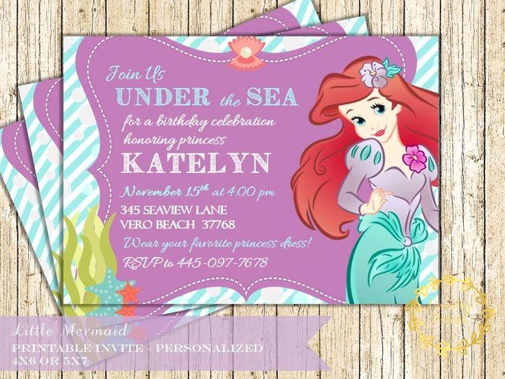 Little Mermaid Invitation Ideas Luxury 1000 Ideas About Little Mermaid Invitations On Pinterest