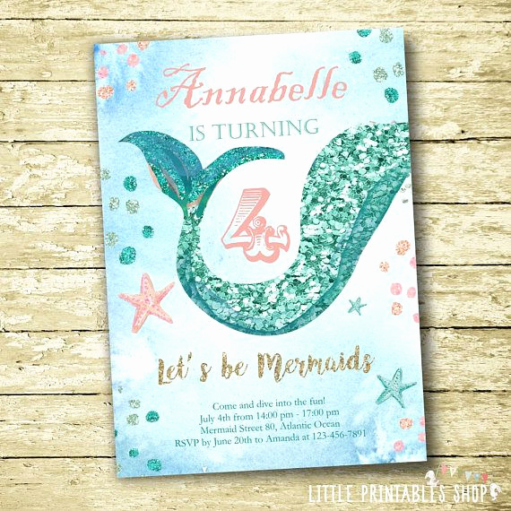 Little Mermaid Invitation Ideas New Mermaid Party Ideas that are Simply Fin Tastic