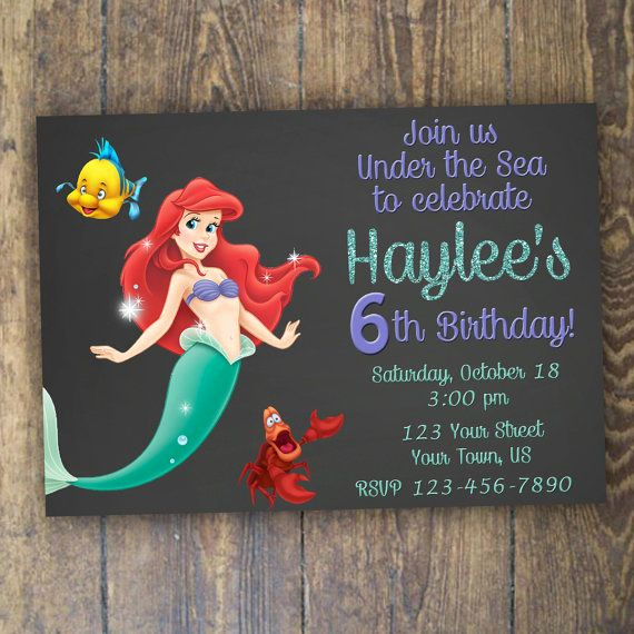 Little Mermaid Invitation Ideas Unique Best 25 Little Mermaid Invitations Ideas On Pinterest
