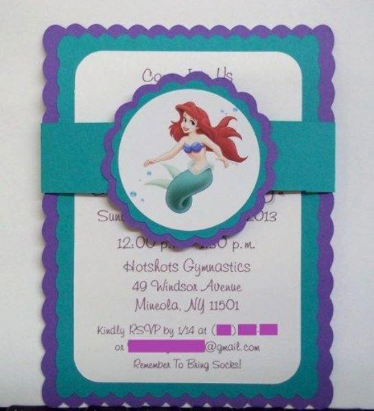 Little Mermaid Invitation Ideas Unique Little Mermaid Birthday Party Ideas Pink Lover