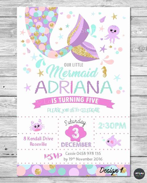Little Mermaid Invitation Template Beautiful 23 Free Printable Birthday Invitations Downloadable