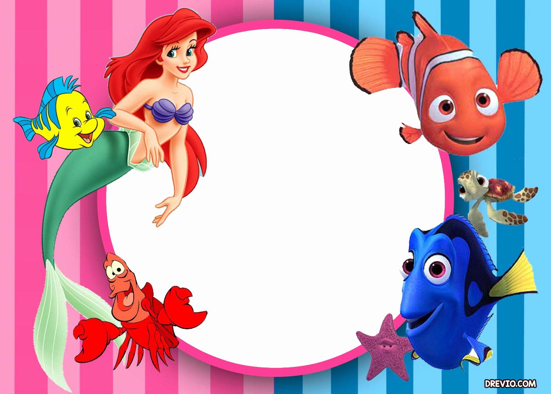 Little Mermaid Invitation Template Luxury Updated Free Printable Ariel the Little Mermaid