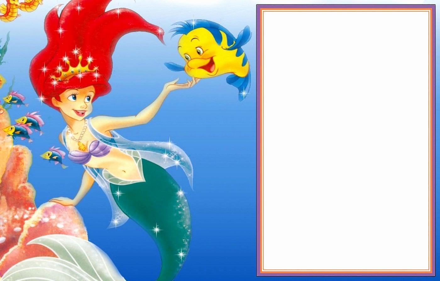 Little Mermaid Invitation Template New Little Mermaid Free Printable Invitation Templates