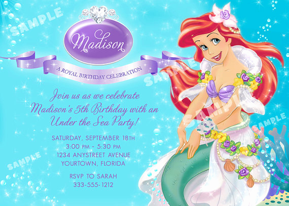 Little Mermaid Invitation Wording Awesome Mermaid Birthday Quotes Quotesgram