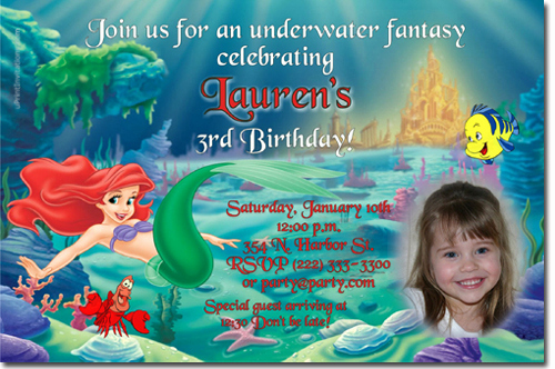 Little Mermaid Invitation Wording Beautiful Little Mermaid Birthday Invitations Ariel Birthday