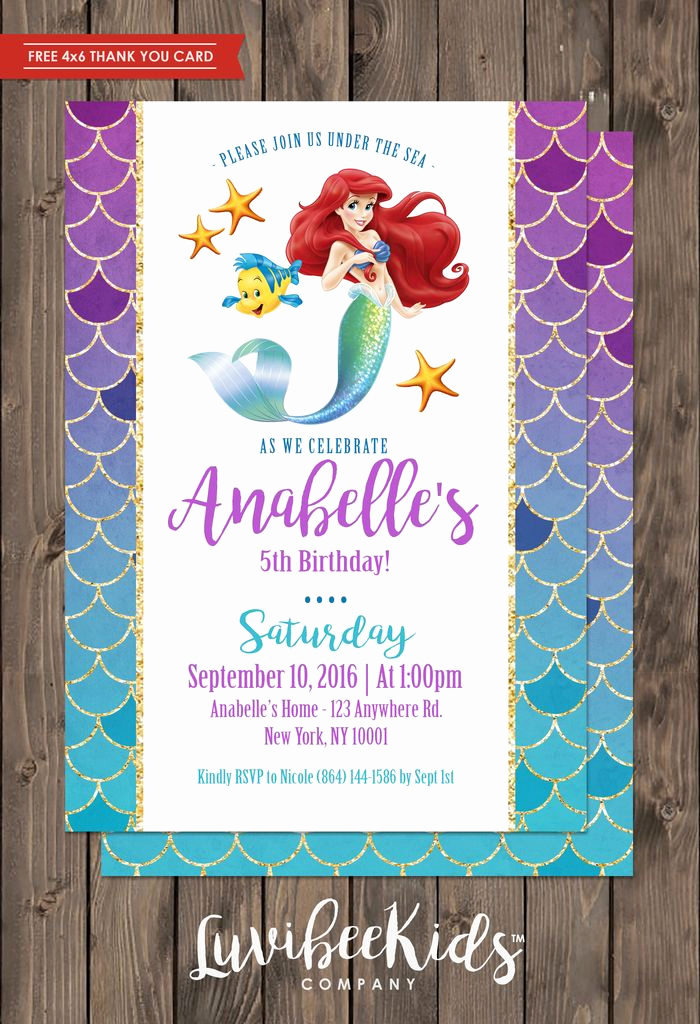 Little Mermaid Invitation Wording Lovely Best 25 Little Mermaid Invitations Ideas On Pinterest