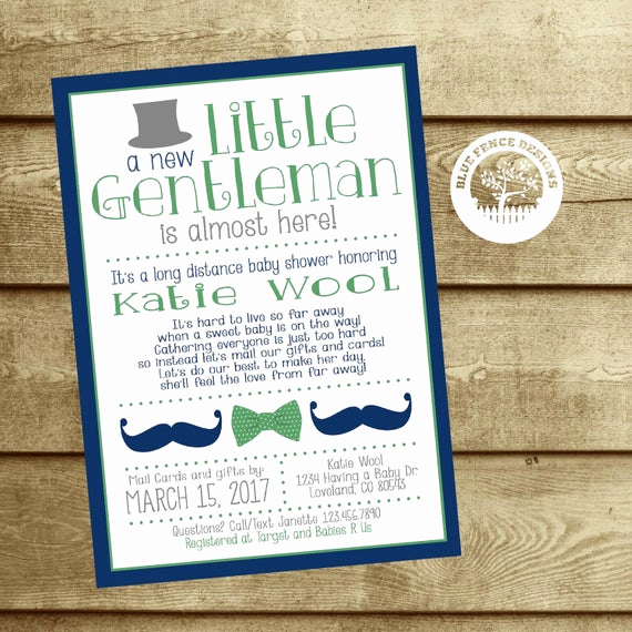 Long Distance Baby Shower Invitation Beautiful Long Distance Baby Shower Invitation Baby Shower by Mail