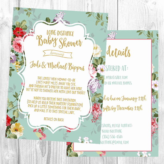 Long Distance Baby Shower Invitation Best Of Long Distance Baby Shower Invitation