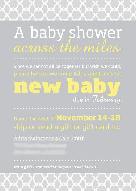 Long Distance Baby Shower Invitation Elegant Adria Virtual Long Distance Baby Shower Invitation Suite
