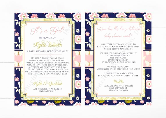 Long Distance Baby Shower Invitation Lovely Long Distance Baby Shower Invitation Shower by Mail Invite