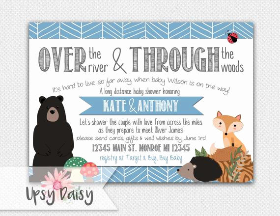 Long Distance Baby Shower Invitation Luxury Long Distance Baby Shower Invitation Boys by