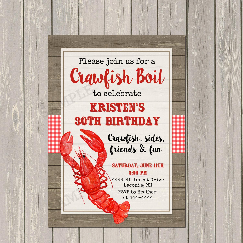 Low Country Boil Invitation Beautiful Crawfish Boil Invitation Low Country Boil Party Invitation