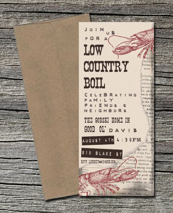 Low Country Boil Invitation Best Of Low Country Boil Invitation Pinterest