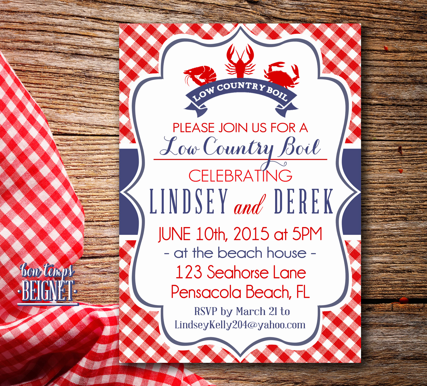 Low Country Boil Invitation Best Of Low Country Boil or Crawfish Shrimp Crab Boil Party