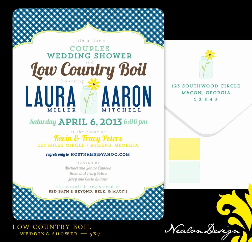 Low Country Boil Invitation Elegant Nealon Design Low Country Boil — Wedding Shower