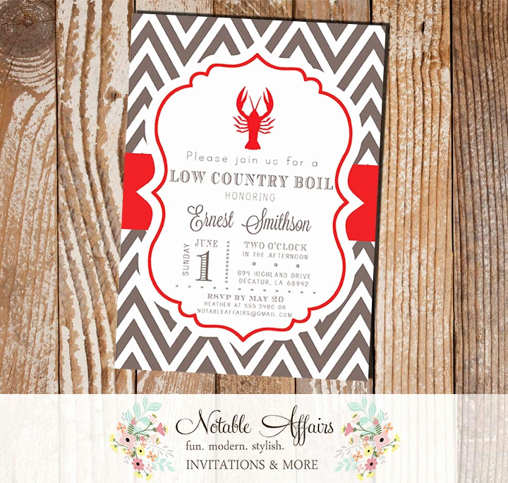 Low Country Boil Invitation Luxury Low Country Boil Seafood Crawfish Shrimp Baby Shower Couples