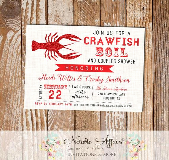 Low Country Boil Invitation New Couples Shower Invitations Low Country Boil Couples Shower