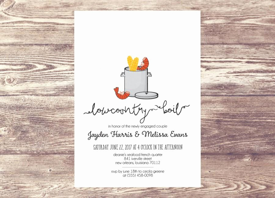 Low Country Boil Invitation New Printed Lowcountry Boil Invitation Low Country Boil