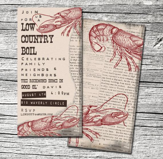 Low Country Boil Invitation Unique Low Country Boil Invitation