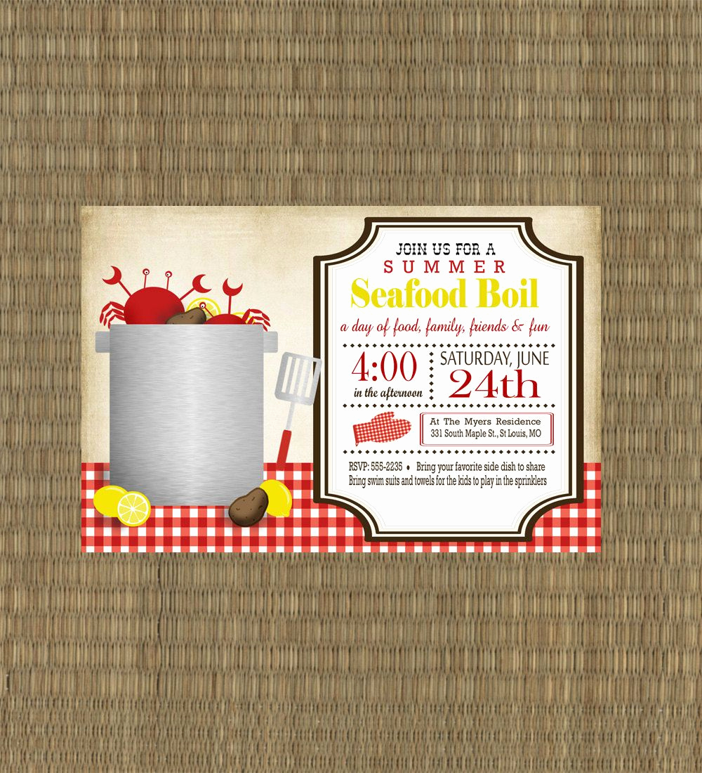 Low Country Boil Invitation Wording Awesome Shrimp Boil Invitations Free Shrimp Boil Invitations
