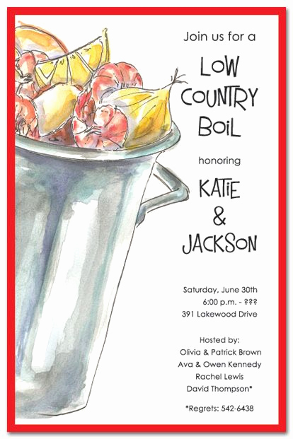 Low Country Boil Invitation Wording Beautiful Low Country Boil Rehearsal Dinner Invites