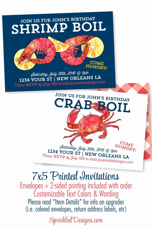 crab or shrimp boil party invitation